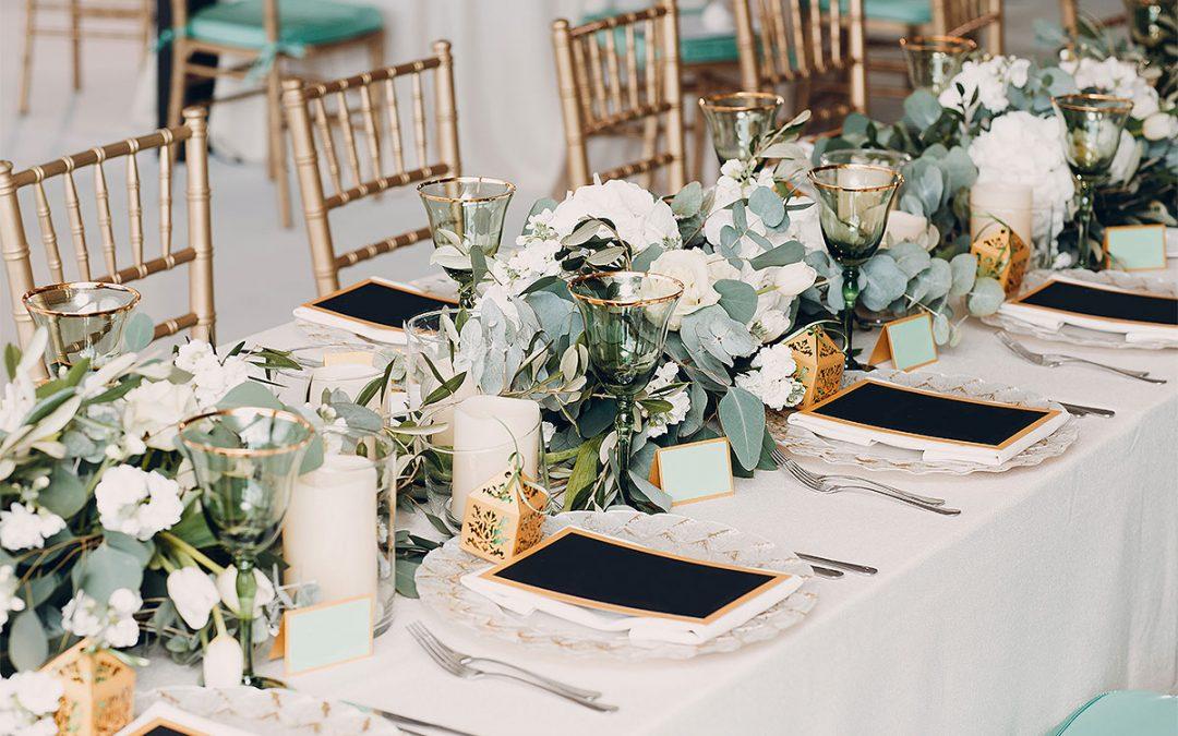 ¿Qué tipo de mesas son las más apropiadas para una boda?